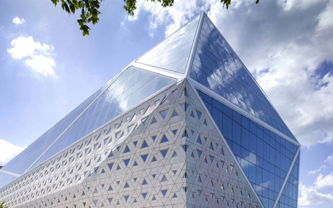 """The audiovisual design at the """"Diamond"""" office building in Ghent"""